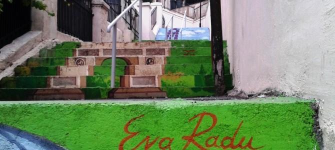 Singura stradă în trepte din București a prins culoare!