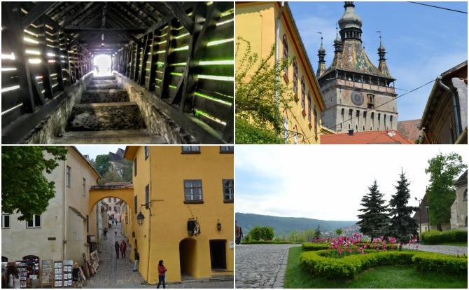 Sighişoara colaj - Castele şi cetăţi din Transilvania