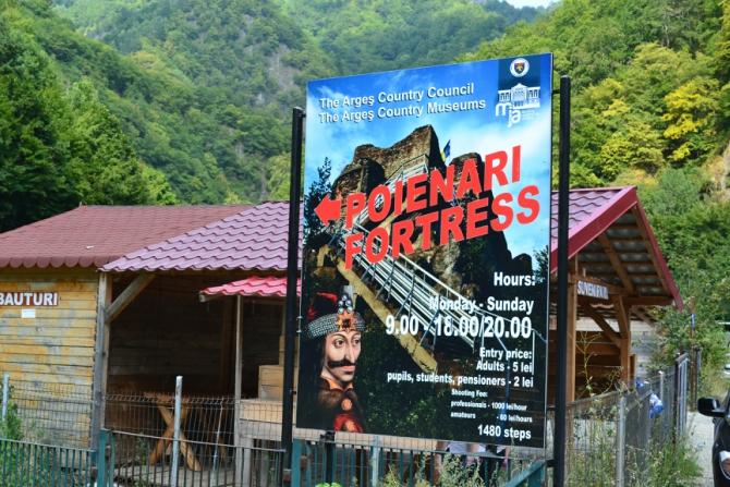 Cetatea Poenari 1 - 1480 de trepte până la Cetatea Poenari