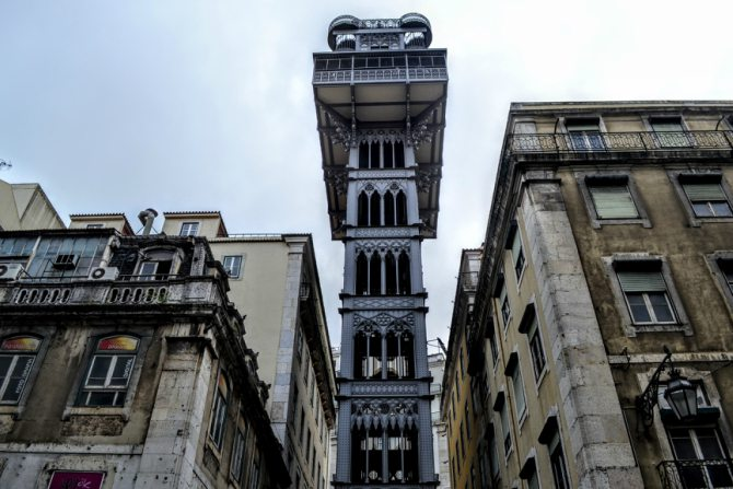 Lisabona Elevator de Santa Justa - Lisabona - un city break pe ritmuri de fado