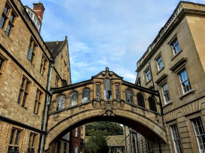 Bridge of Sighs - Oxford-oraşul celei mai vechi universităţi din Marea Britanie