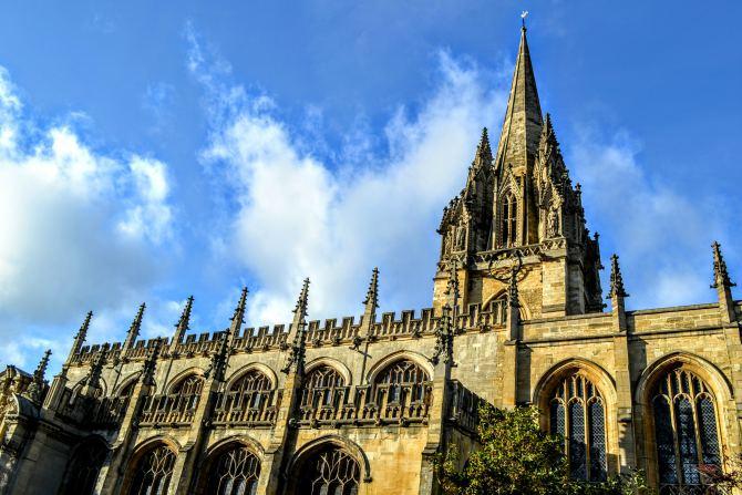 University Church of St Mary the Virgin - Oxford-oraşul celei mai vechi universităţi din Marea Britanie